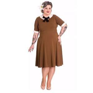 Hell Bunny Vixen Kim Dress 2XL Swing Retro pinup